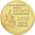 Gold medal - San Francisco World Spirits Competition 2015